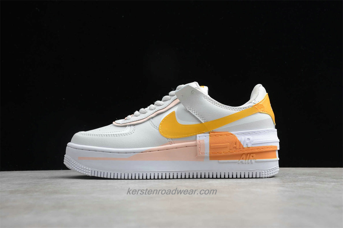 Nike Air Force 1 SHADOW SE CQ9503 001 Unisex Beige / Orange Casual Shoes