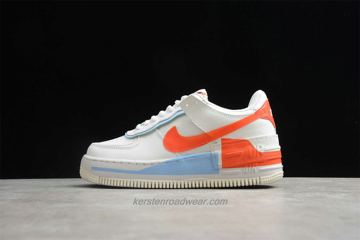 Nike Air Force 1 SHADOW SE CQ9503 100 Women's Beige / Orange / Blue Casual Shoes
