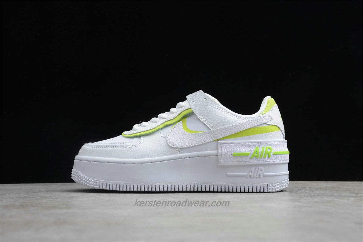 Nike Air Force 1 SHADOW CI0919 104 Women's White / Green Casual Shoes