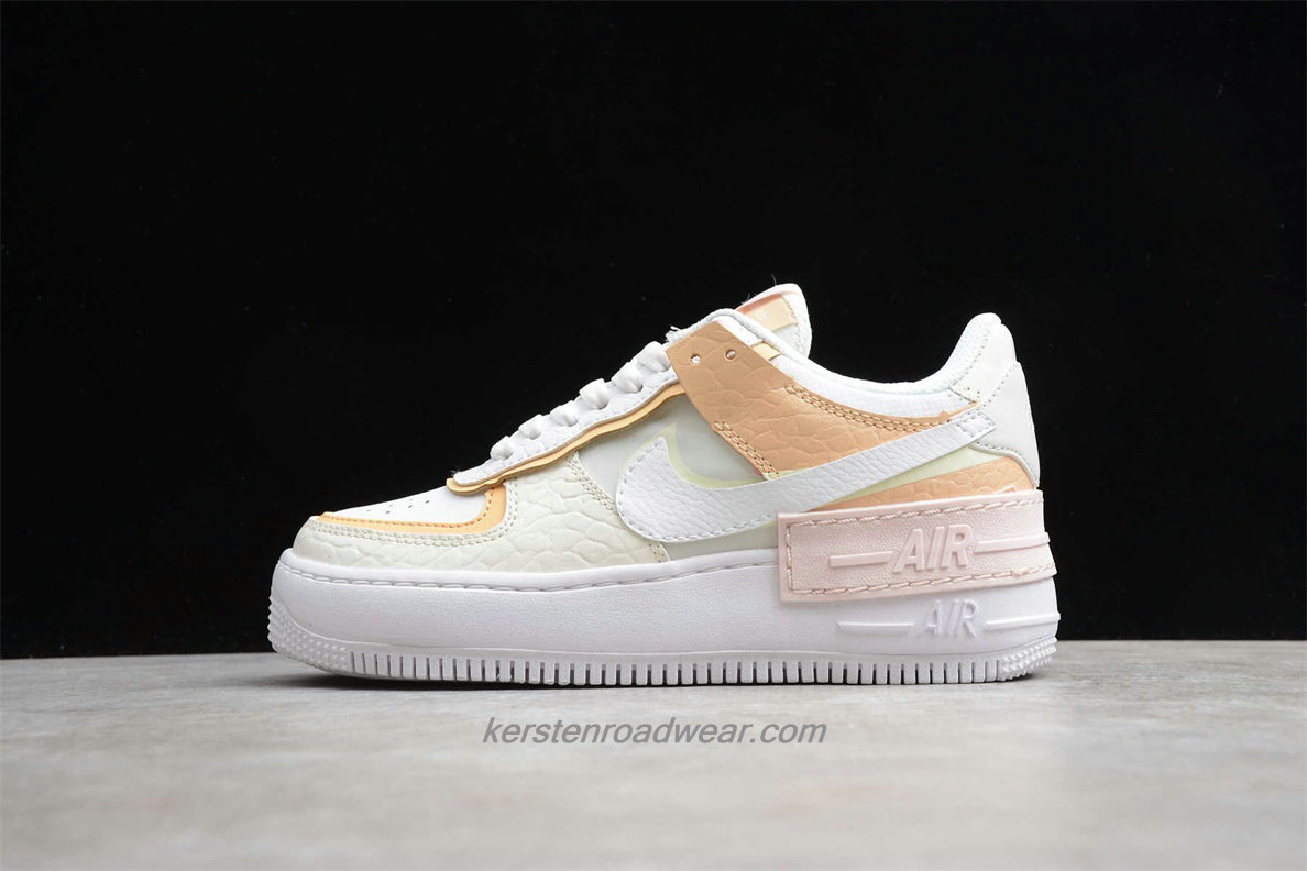 Nike Air Force 1 SHADOW CK3172 002 Women's White / Khaki / Pink Casual Shoes