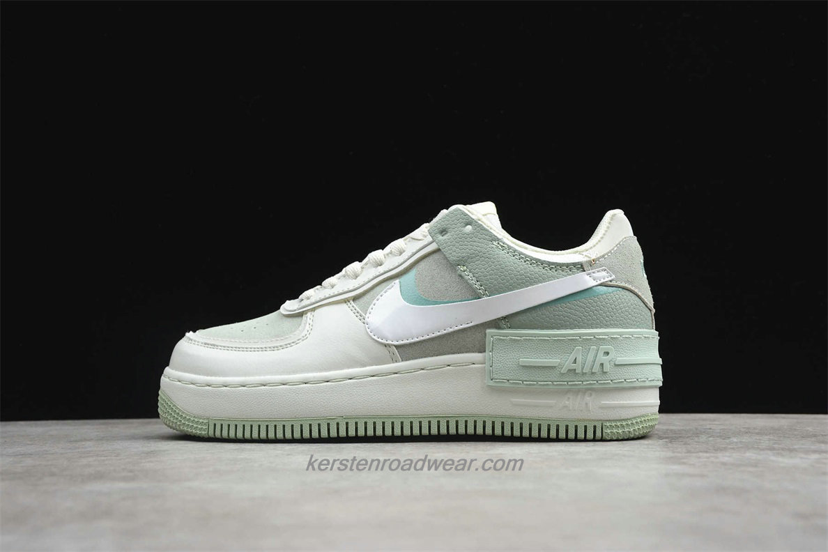 Nike Air Force 1 SHADOW CW2655 001 Women's Light Green / Beige Casual Shoes