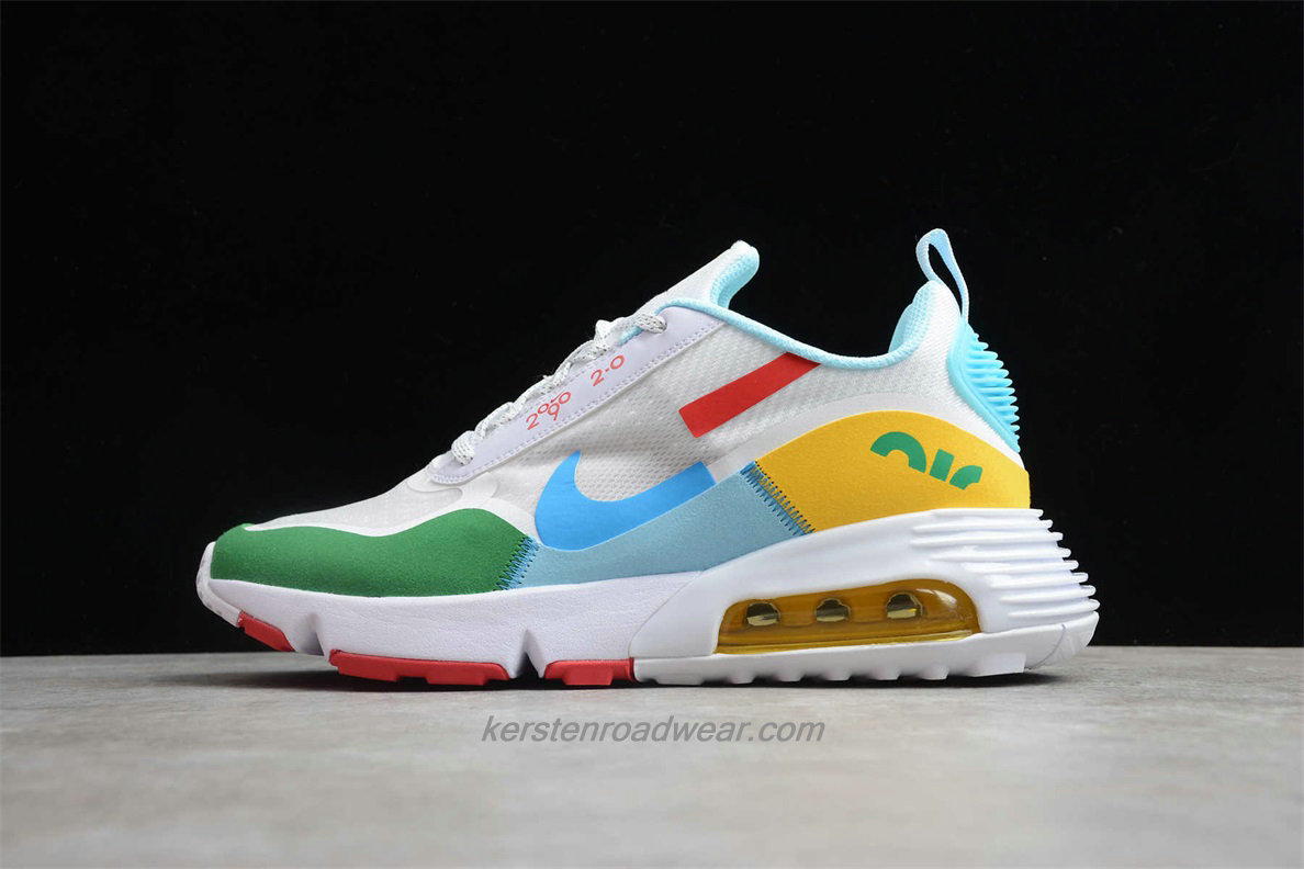 Nike Air Max 2090 2.0 BV9998 109 Unisex White / Green / Yellow Running Shoes