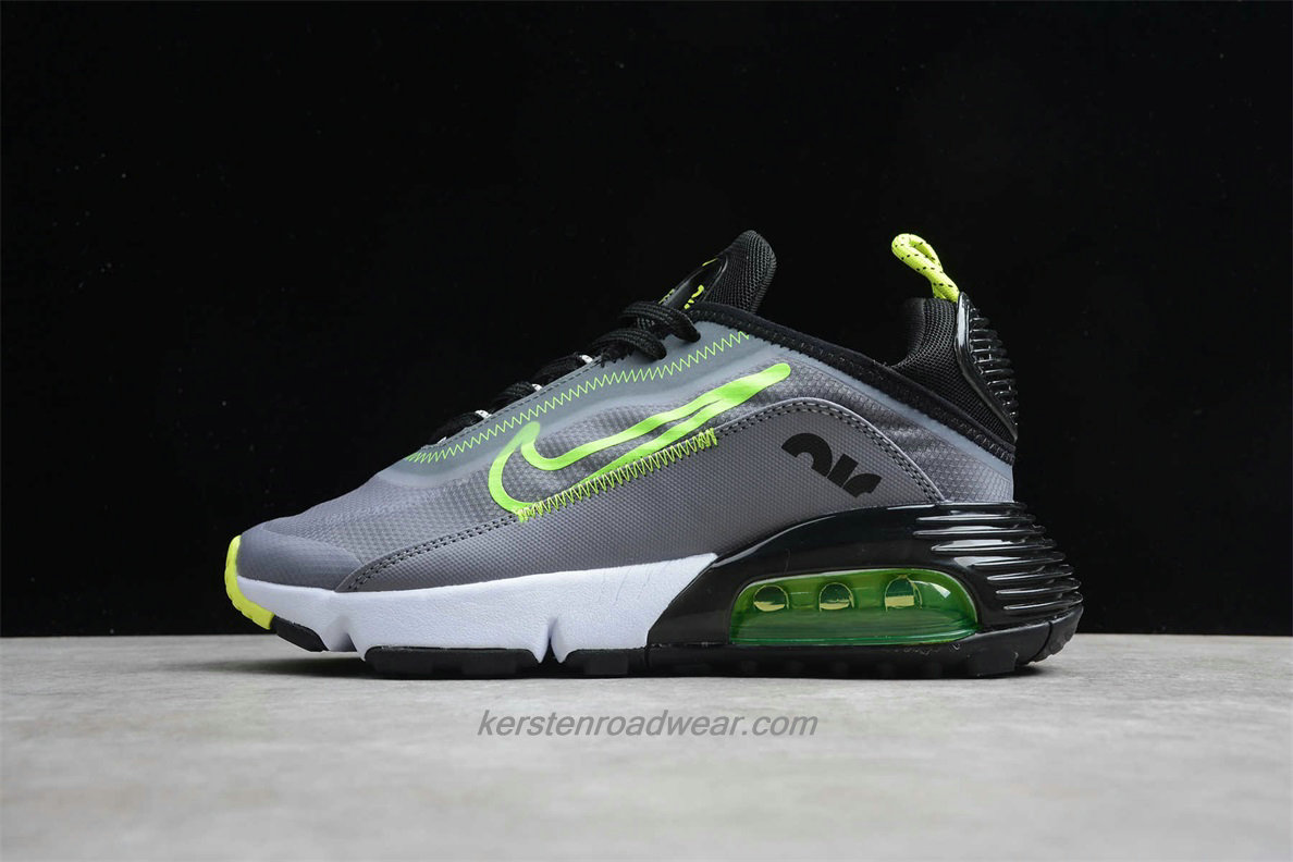 Nike Air Max 2090 CT7698 011 Unisex Grey / Black / Green Sport Shoes