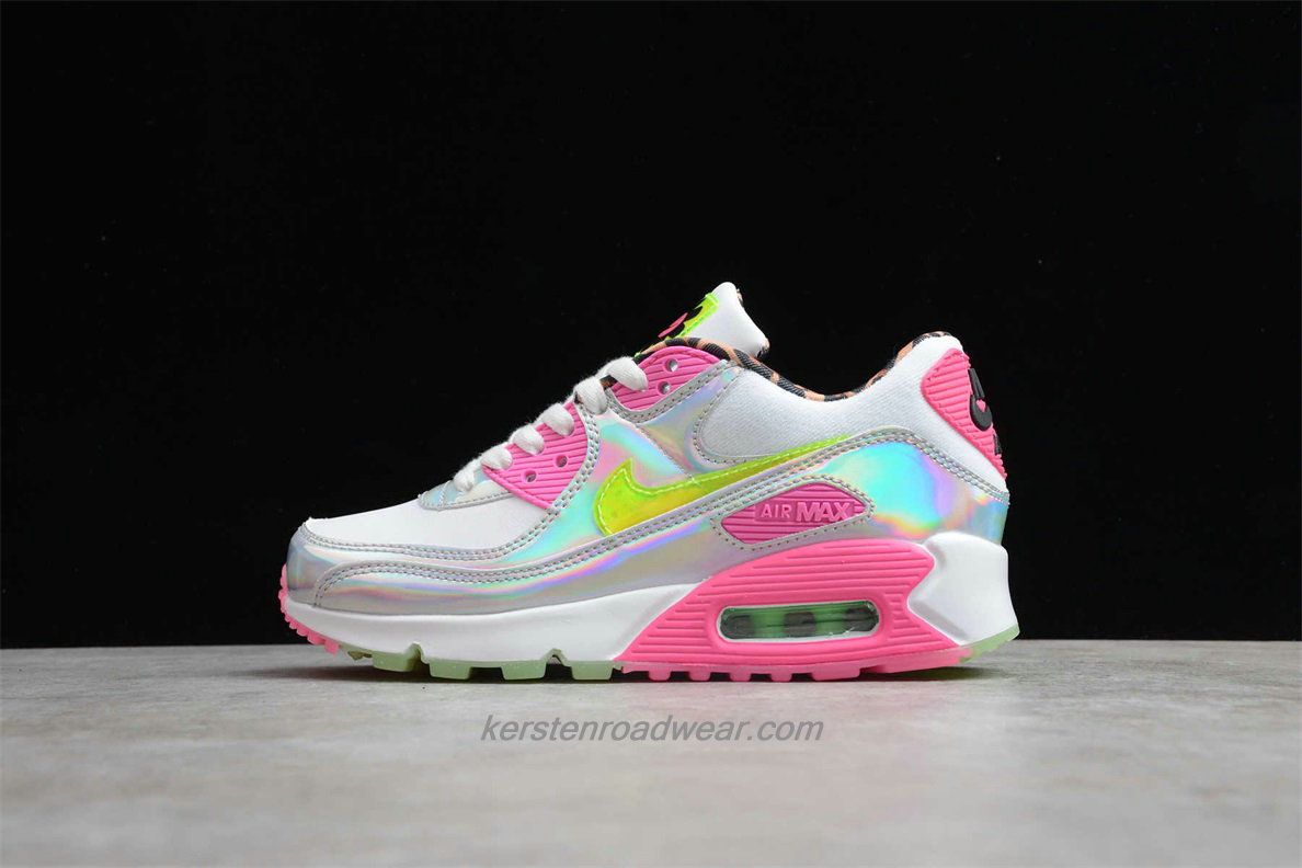 2020 Nike Air Max 90 LX CQ2559 100 Women's White / Pink / Laser Street Shoes