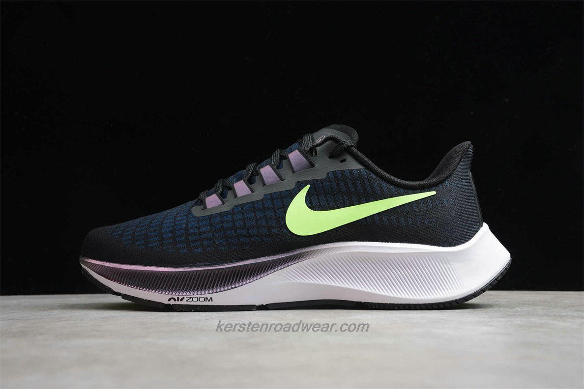 Nike Air Zoom Pegasus 37 BQ9646 001 Men's Navy Blue / Black / Green Training shoes