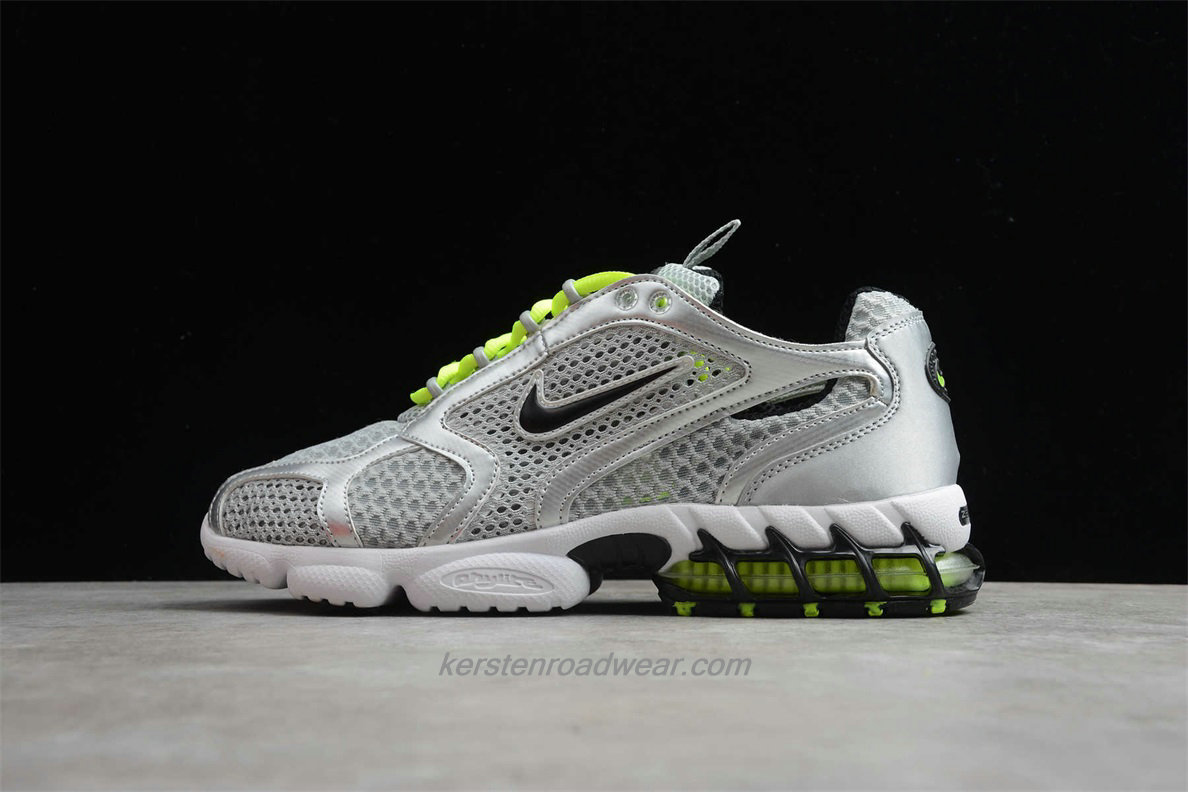 Nike Air Zoom Spiridon Cage 2 CJ1288 007 Unisex Silver / Green Running Shoes