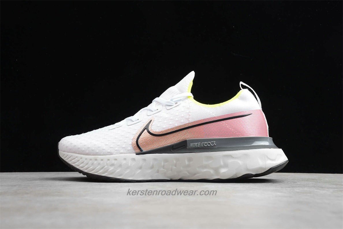 Nike React Infinity Run Flyknit CD4371 004 Men's White / Pink / Grey Running Shoes