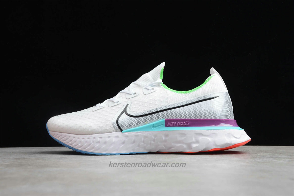 Nike React Infinity Run Flyknit CD4371 102 Unisex White / Silver / Purple Running Shoes