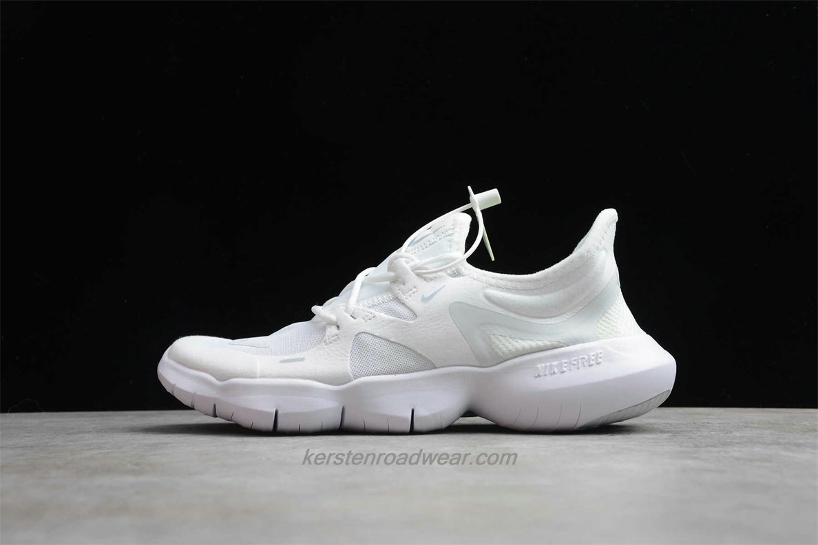 Nike Free RN 5.0 Lightweight AQ1289 002 Unisex White Road Running Shoes