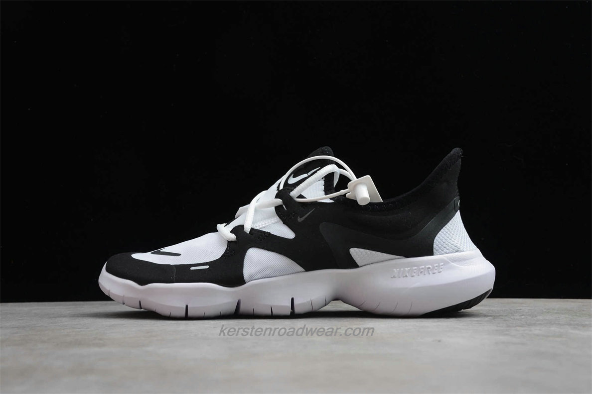 Nike Free RN 5.0 Lightweight AQ1289 102 Unisex Black / White Road Running Shoes