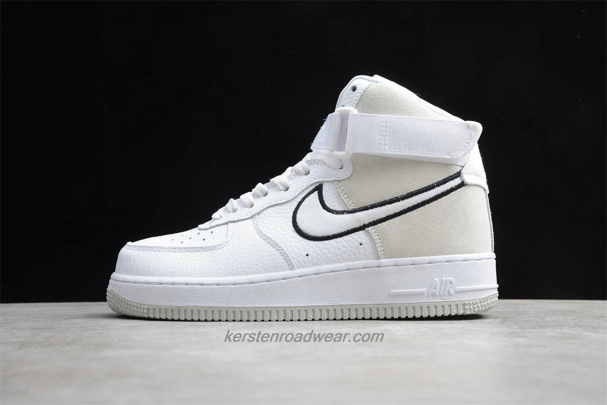 Nike Air Force 1 High 07 WB A02442 100 Men's White / Sand / Black Shoes