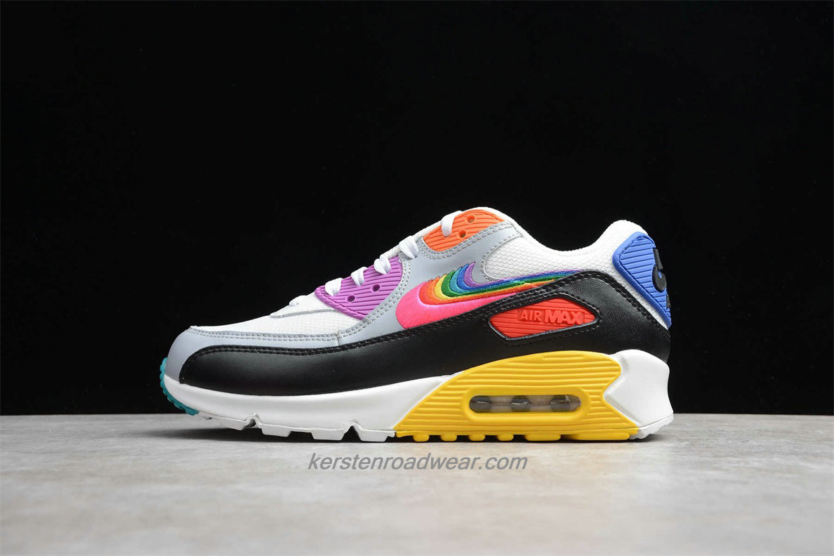 Nike Air Max 90 BETRUE CJ5482 100 Unisex White / Black / Yellow / Pink Lifestyle Shoes