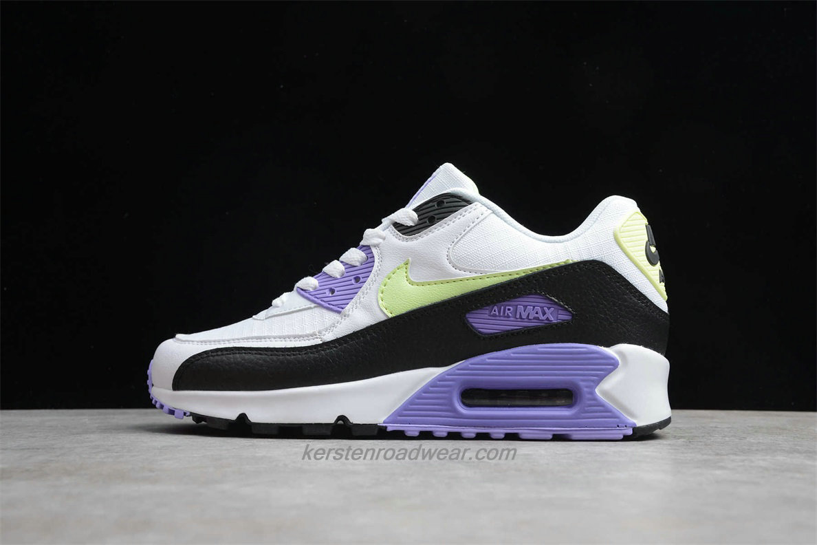 Nike Air Max 90 Essential 325213 142 Women's White / Purple / Yellow / Black Lifestyle Shoes