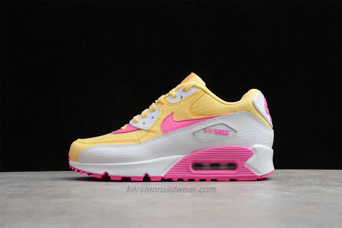 Nike Air Max 90 Essential 325213 702 Women's Yellow / White / Pink Lifestyle Shoes