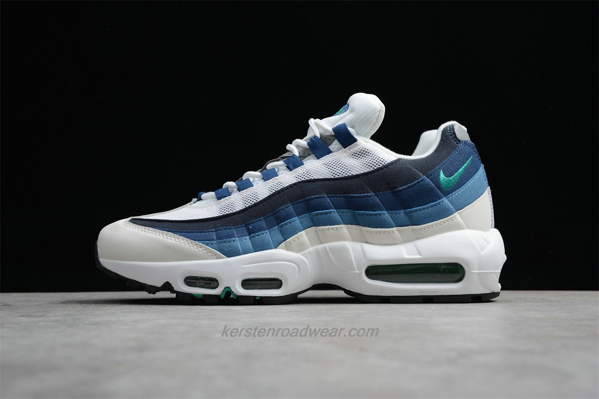 Nike Air Max 95 OG 554970 131 Unisex White / Black / Dark Blue Sport Shoes