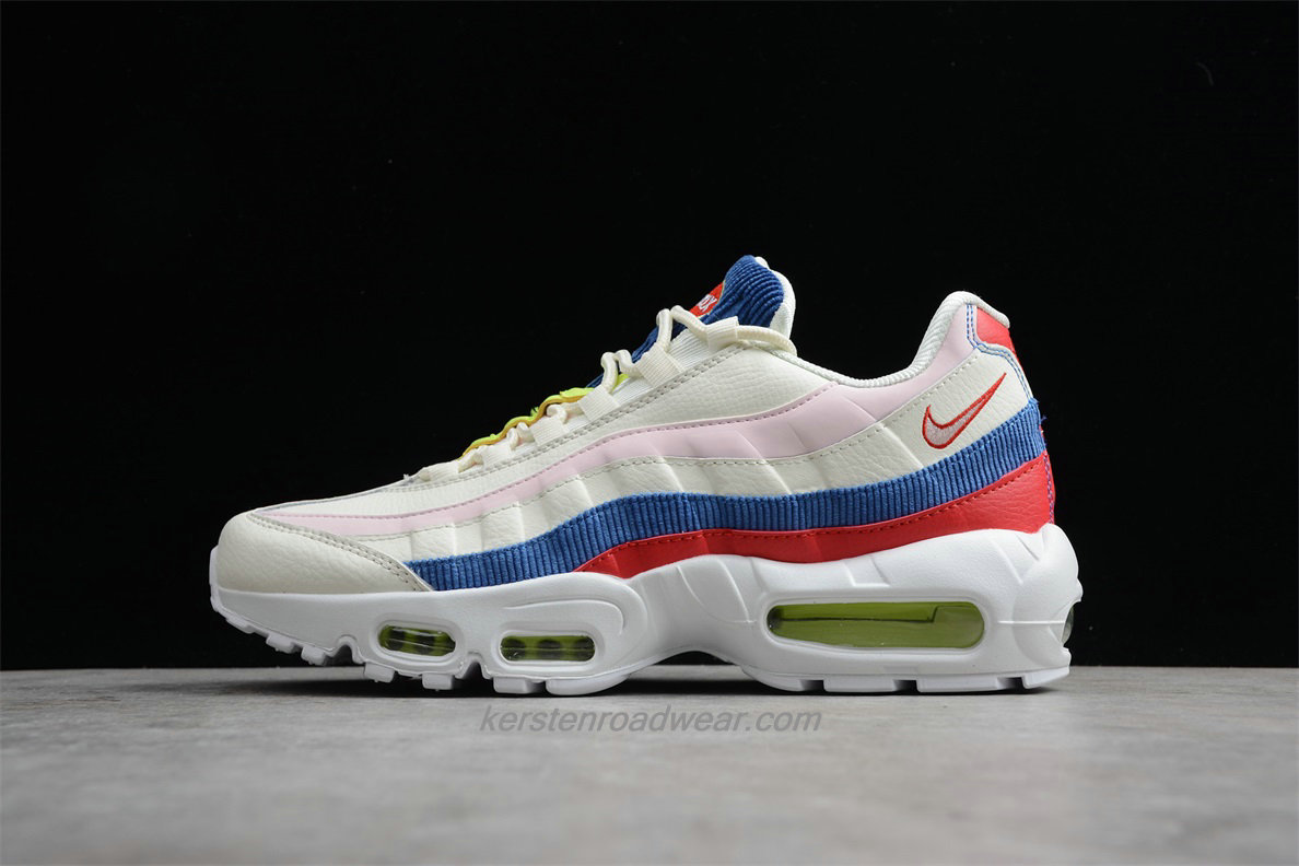Nike Air Max 95 SE AQ4138 101 Unisex Beige / Pink / Blue / Red Sport Shoes