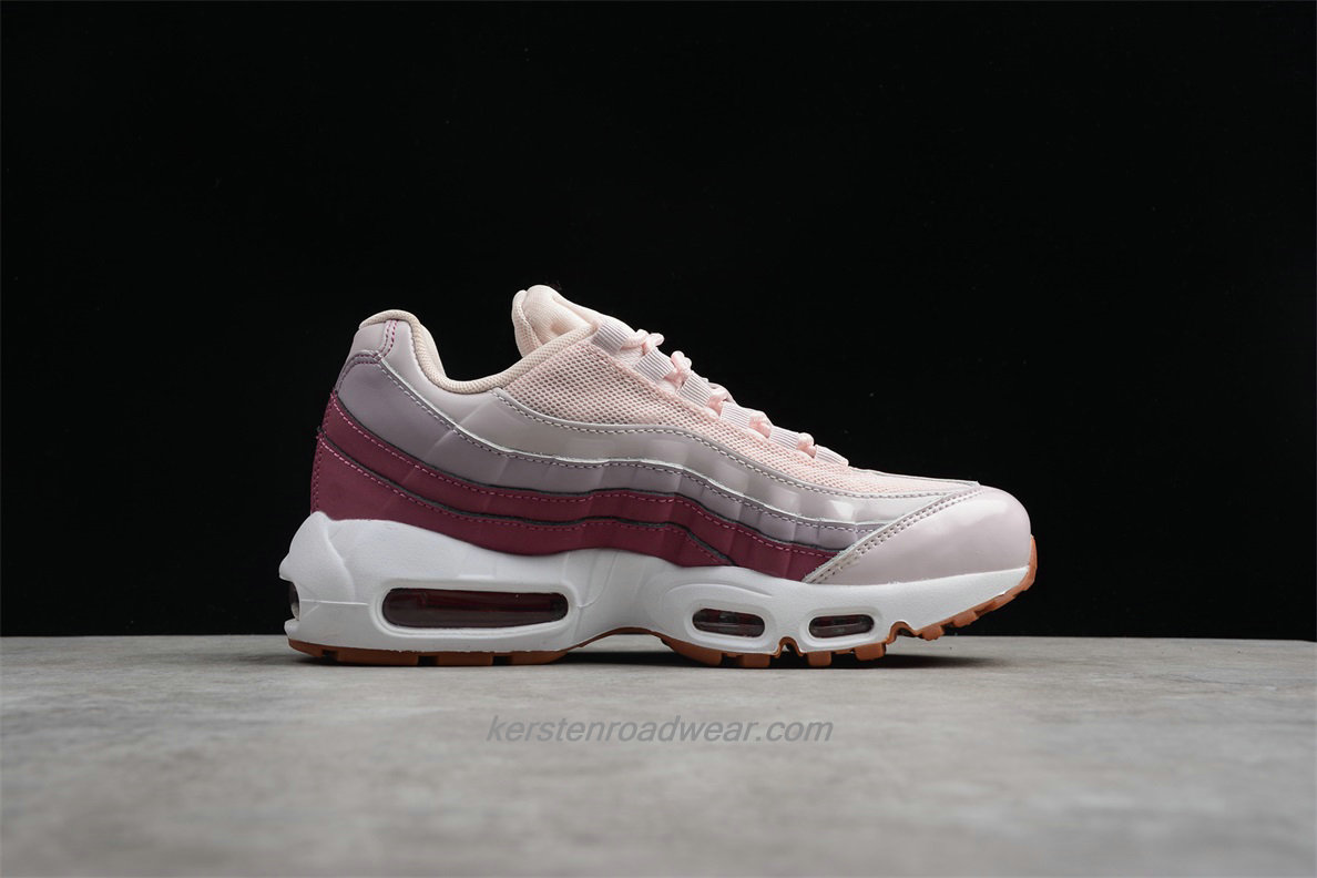Nike Air Max 95 307960 603 Women's Light Pink / Wine Red Sport Shoes