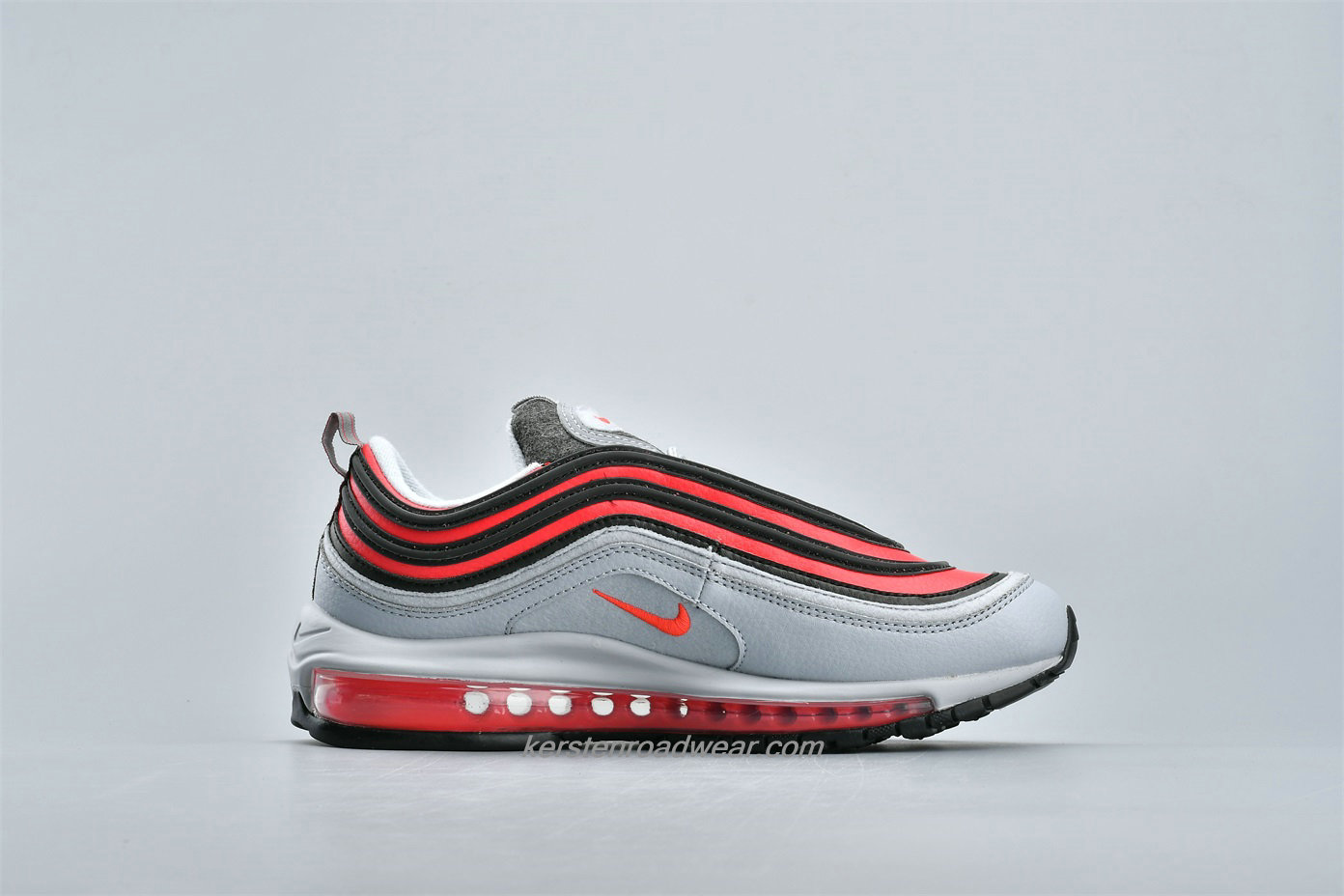 Nike Air Max 97 FELT CD4831 002 Unisex Grey / Black / Red Shoes