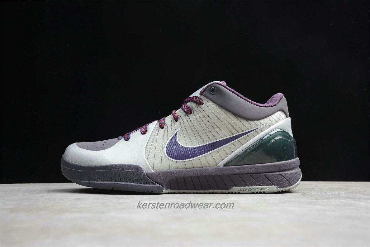 Nike Zoom Kobe IV 344335 051 Men's Purple / Grey / Silver Shoes