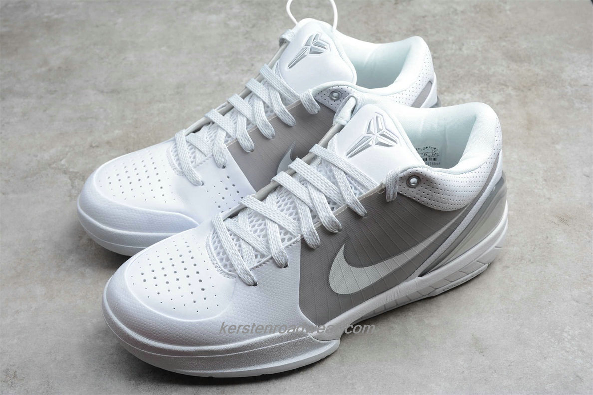Nike Zoom Kobe IV 344335 111 Men's White / Grey / Silver Shoes