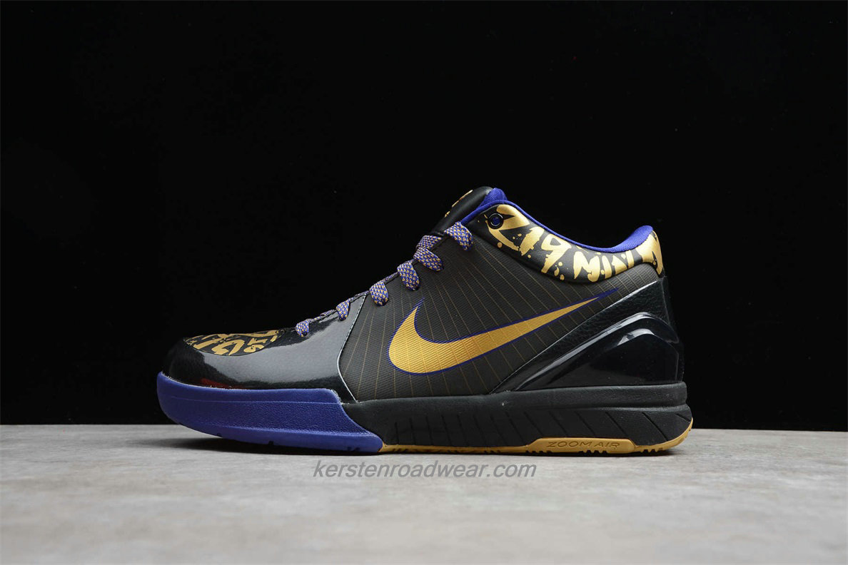 Nike Zoom Kobe IV POP 354187 001 Men's Black / Gold / Blue Shoes