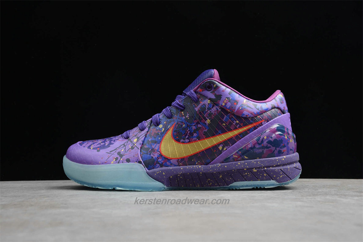 Nike Zoom Kobe IV Prelude 639693 500 Men's Purple / Gold / Blue Shoes