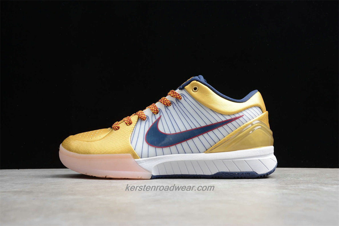 Nike Zoom Kobe IV Protro CQ3869 107 Men's Gold / White / Blue Shoes