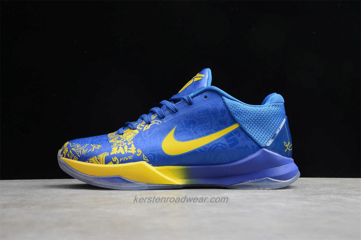 Nike Zoom Kobe V 386429 702 Men's Blue / Yellow Shoes