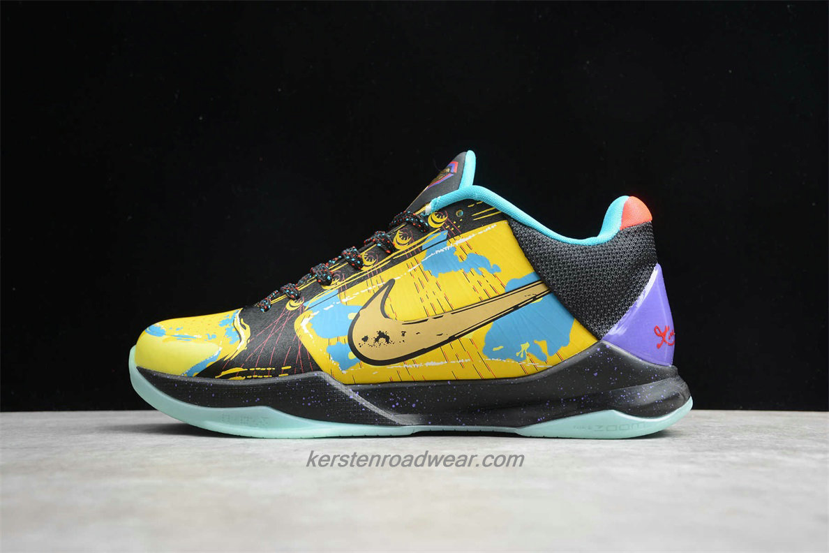 Nike Zoom Kobe V Prelude 639691 700 Men's Yellow / Black / Blue Shoes