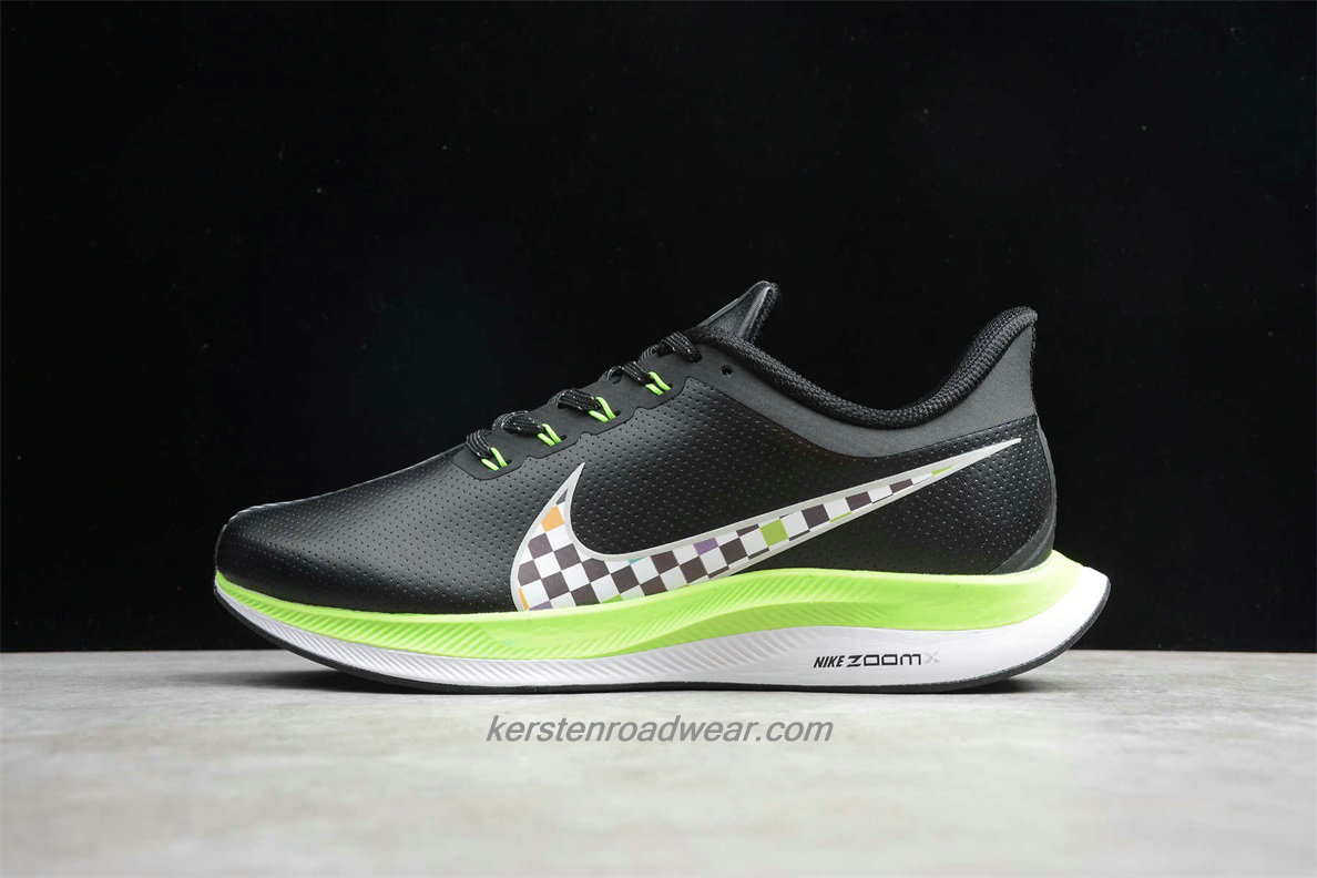 Nike Zoom Pegasus 35 Turbo Shield BQ3290 300 Men's Black / Green Shoes