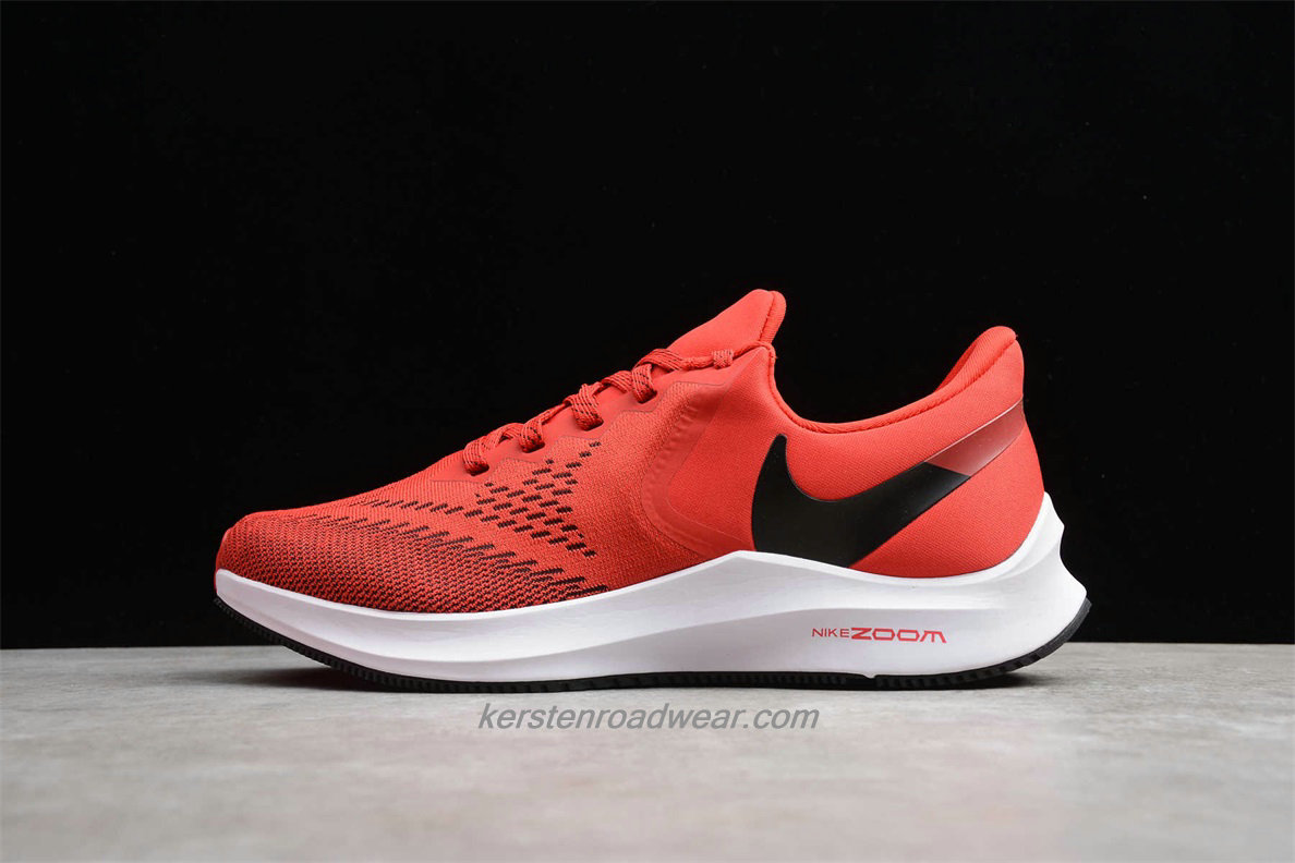 Nike Zoom Winflo 6 AQ7497 600 Men's Red / Black Road Running Shoes