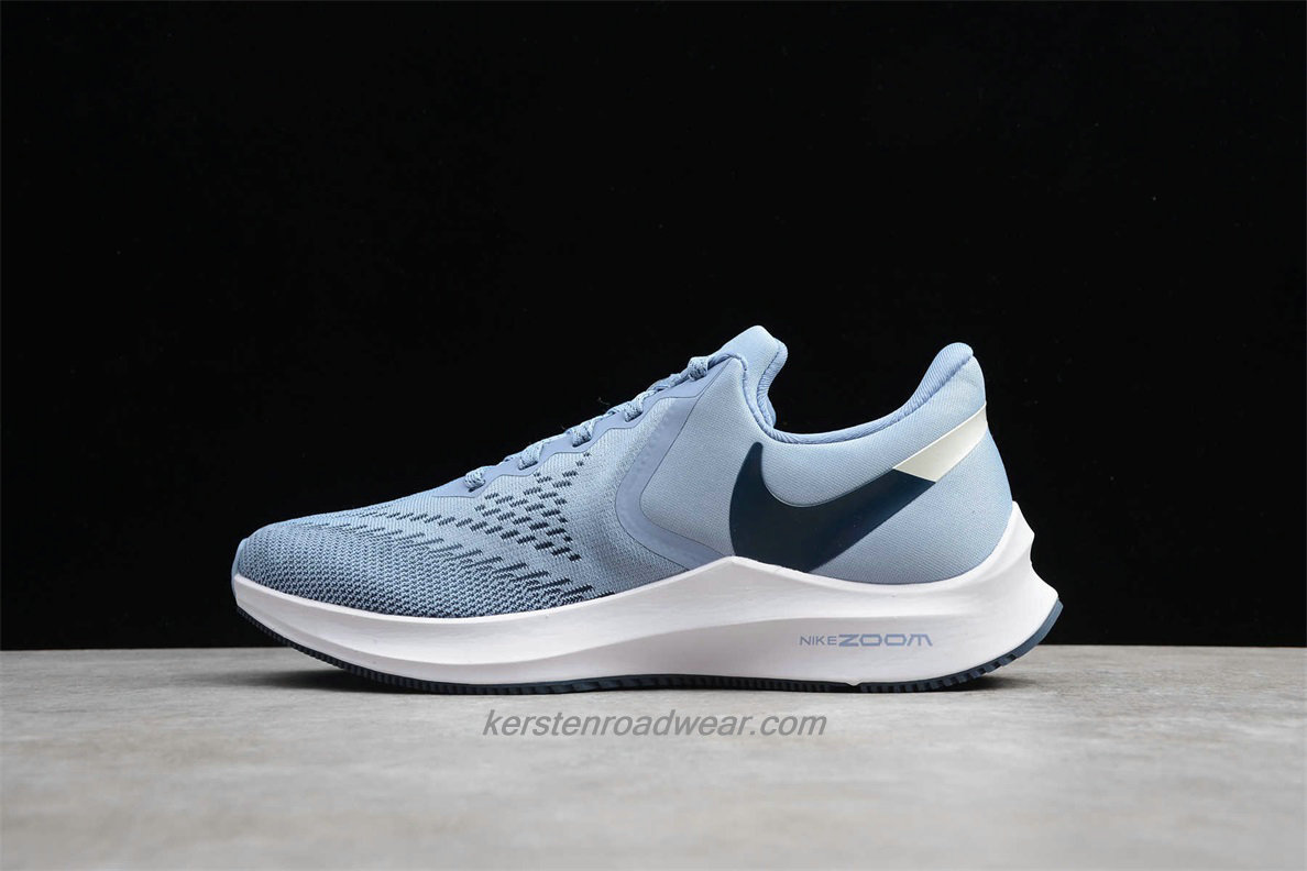 Nike Zoom Winflo 6 AQ8228 400 Women's Light Blue / White Road Running Shoes