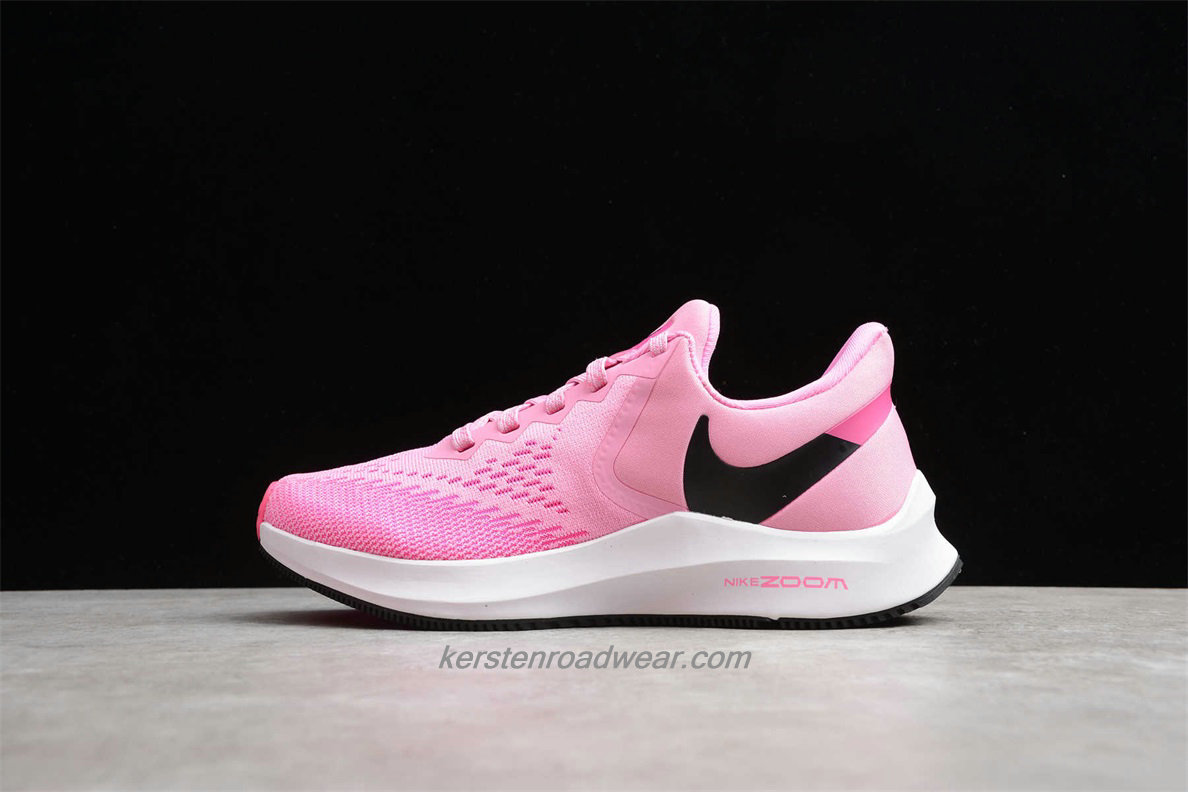 Nike Zoom Winflo 6 AQ8228 600 Women's Pink / Black Road Running Shoes